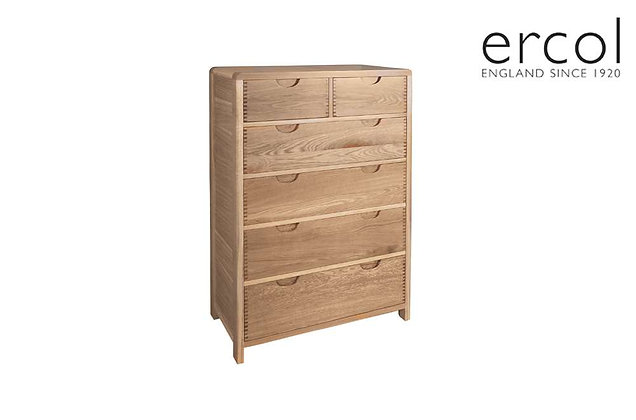 Ercol Bosco 6 Drawer Wide Chest