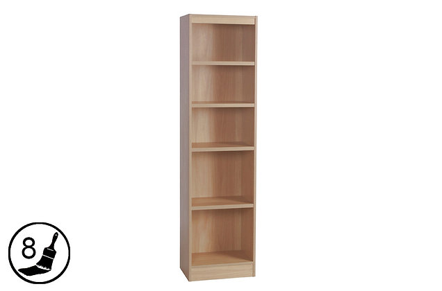 R White H-B48 – Tall Bookcase (480mm Wide)