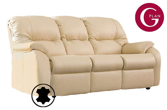 G Plan Mistral Leather 3 Seater Sofa
