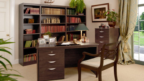 R White Office Furniture in Walnut