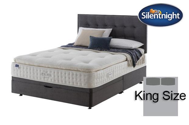 Silentnight Miracoil Elixir Geltex Pillow Top King Size Divan Bed