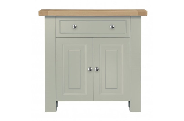 Bretagne Small Sideboard – Rockford Grey with Natural Top