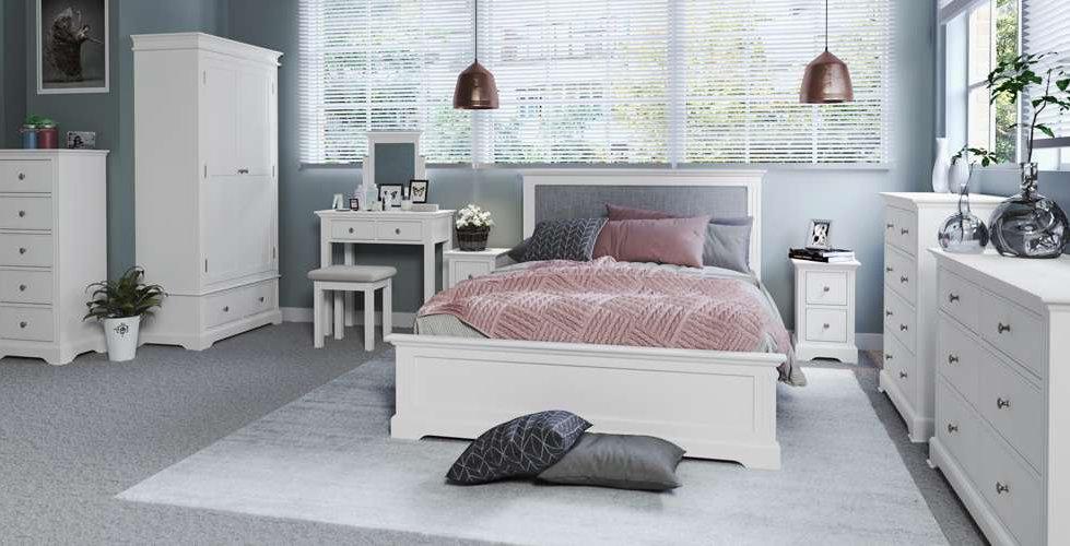 Polar Bedroom Furniture shown in White