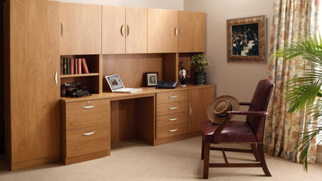 R White Office Furniture in English Oak
