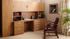 R White Office Furniture in English Oak