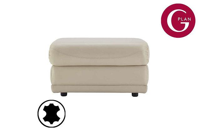 G Plan Milton Leather Storage Footstool