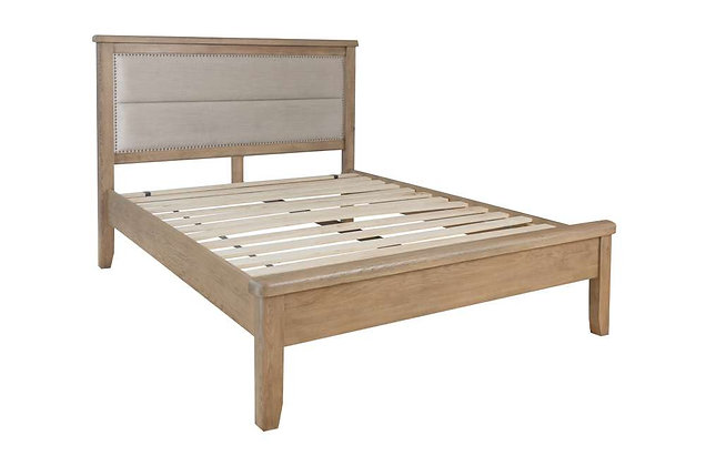 Toulouse 180cm Super King Size Bedstead - Fabric Headboard Low End