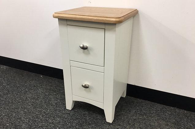 Jersey White & Oak Bedside 2 Drawer