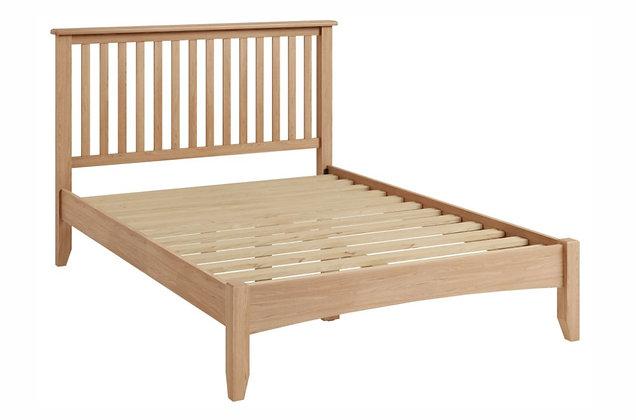 Jersey 135cm Double Oak Wooden Bedframe