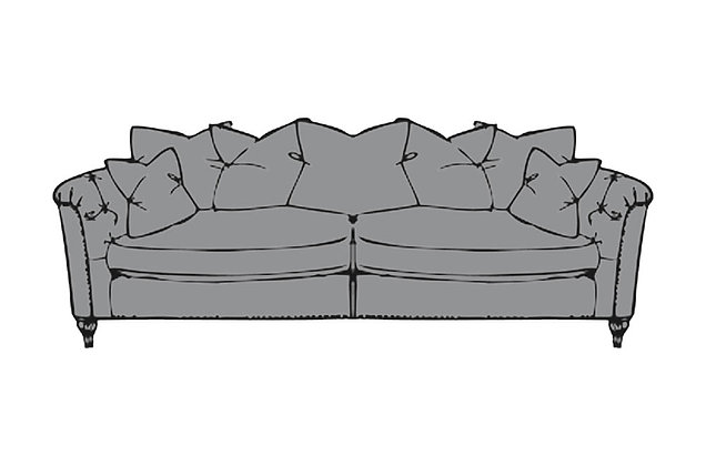 Sophia Extra Large Pillow Back Sofa