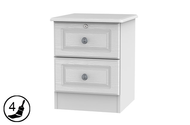 Clifton 2 Drawer Bedside with Drawer Lock