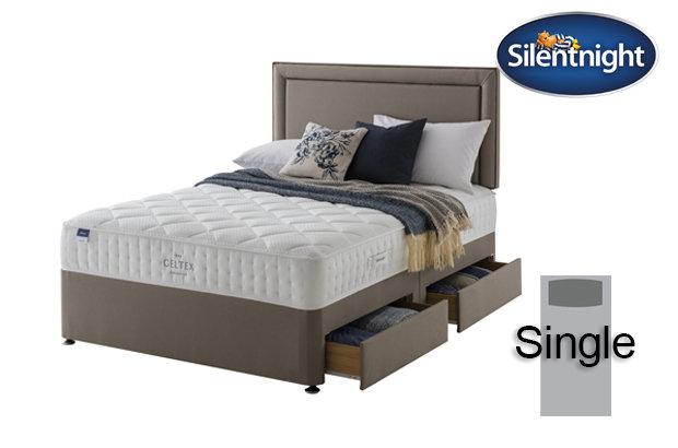 Silentnight Miracoil Aqua Geltex Single Divan Bed