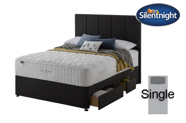 Silentnight Mirapocket Ivory Eco Comfort 1400 Single Divan Bed