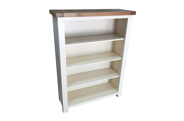 Bretagne Medium Bookcase – Ivory with Lacquered Top