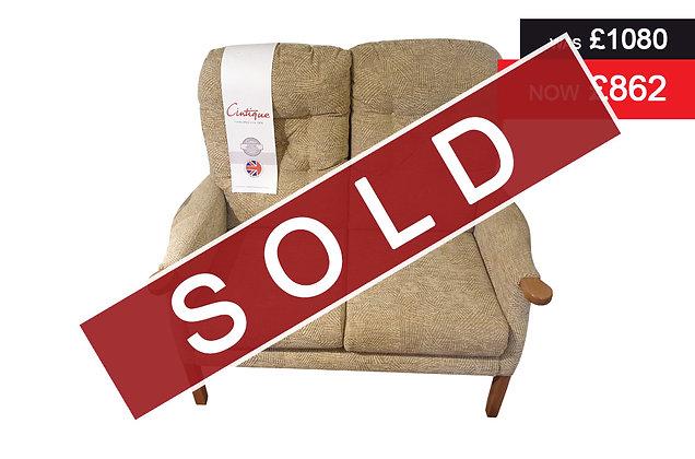 Cintique Eton 2 Seater Sofa - C455 / Mid Oak