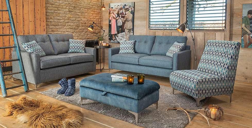 Brooke 3SeaterSofa, 2 Seater Sofa, Armless chair & Ottoman
