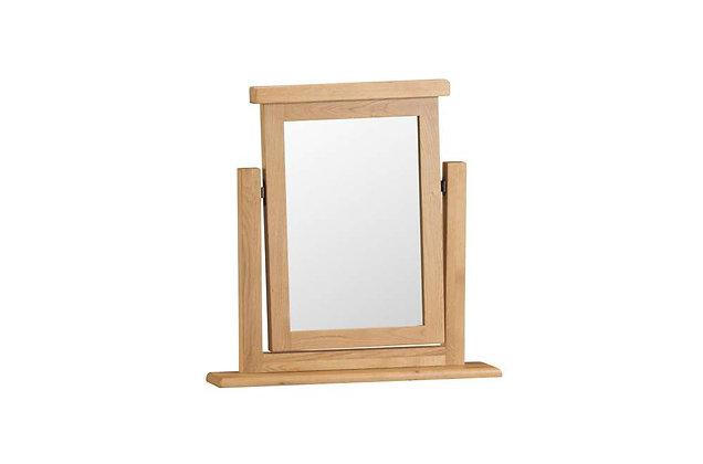 Classic Oak Vanity Mirror