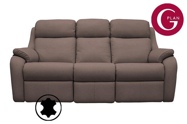 G Plan Kingsbury Leather 3 Seater Sofa