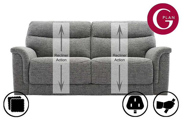 G Plan Harrison 3 Seater Recliner Sofa (2 Cushion)