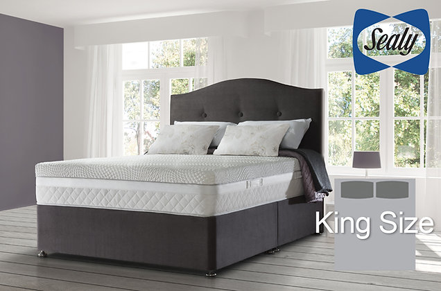 Sealy Hybrid Ultima Pocket 2800 King Size Divan Bed