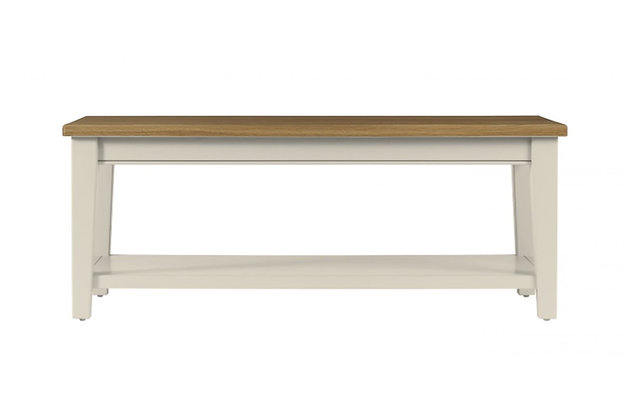 Somerdale Coffee Table – Ivory with Natural Top