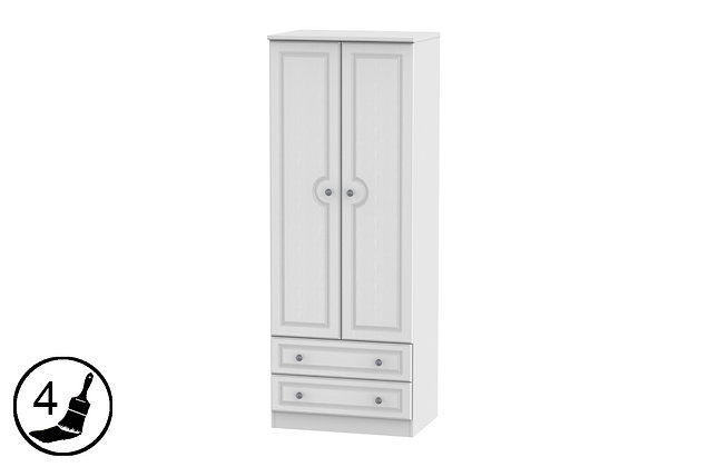 Clifton 2ft6in 2 Drawer Double Wardrobe