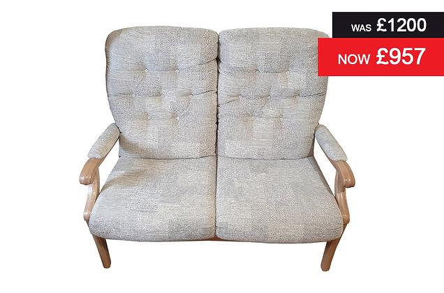Cintique Winchester 2 Seater Sofa - D1013 / Oak
