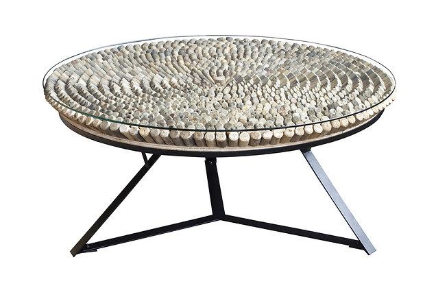 Driftwood Iona round coffee table