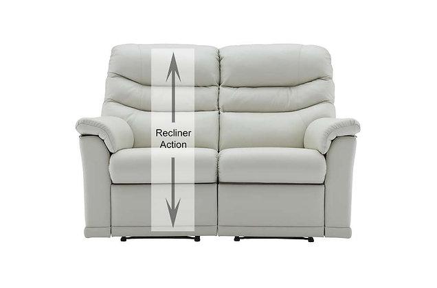 G Plan Malvern Leather Left Hand Facing Single 2 Seater Recliner Sofa