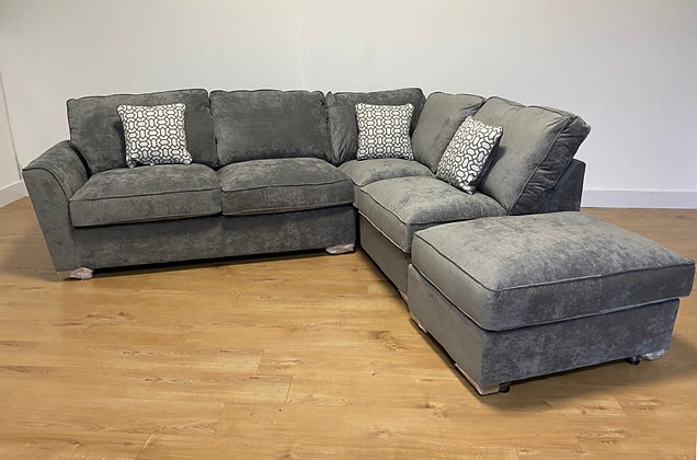 Marley Corner Group with Footstool – Right Hand Facing