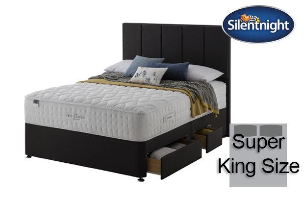 Silentnight Mirapocket Ivory Eco Comfort 1400 Super King Size Divan Bed