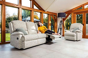 Sherborne Virginia 3 Seater Fabric Recliner Sofa and Armchair