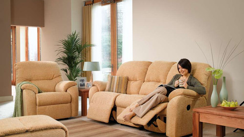 G Plan Mistral Fabric 3 Seater Recliner Sofa, G Plan Mistral Fabric Chair and Footstool | Gordon Busbridge Furniture & Beds Store | Hastings, Eastbourne, St Leonards on Sea, Bexhill & Seaford