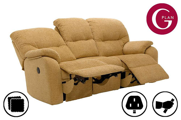 G Plan Mistral 3 Seater Double Recliner Sofa