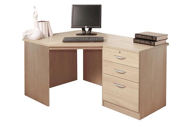Set 7 – Corner Desk with Drawer Unit