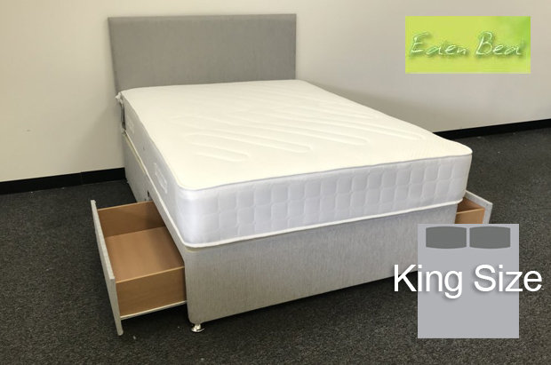Eden Beds Orthopaedic Extra Firm King Size 2 Drawer Divan