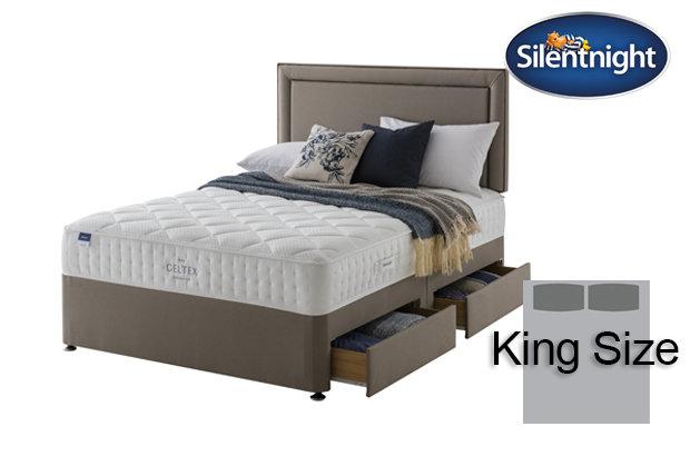 Silentnight Miracoil Aqua Geltex King Size Divan Bed