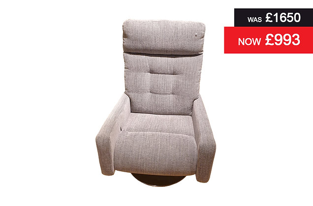 Meteor Standard Recliner Chair - Melody Charcoal