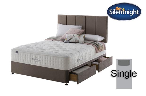 Silentnight Mirapocket Allegro Natural 1400 Single Divan Bed