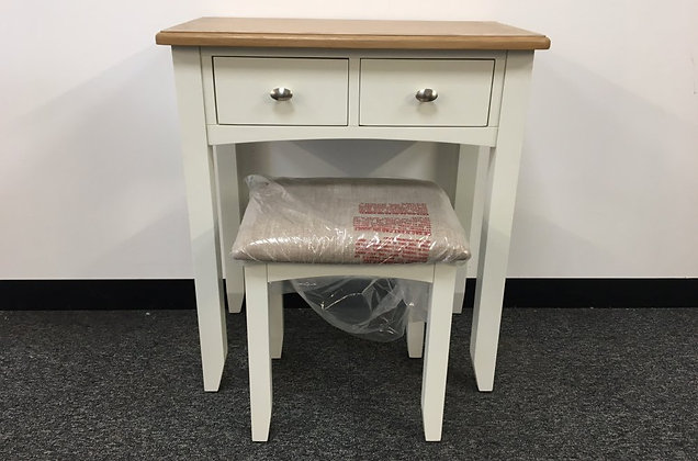 Jersey White & Oak Dressing Table & Stool