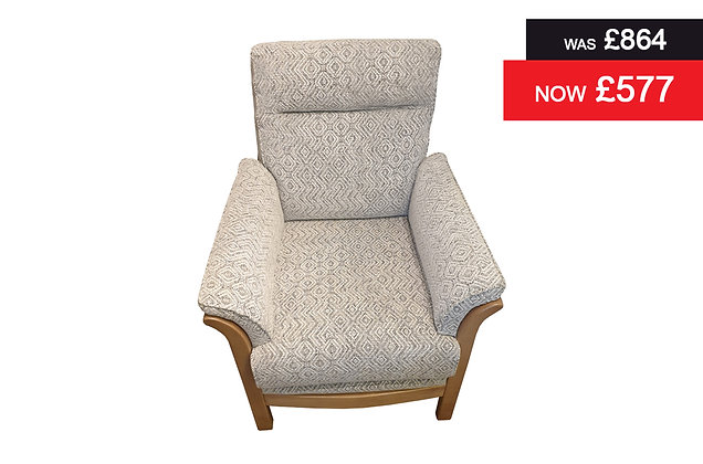 Amalfi Armchair - Grey Geometric