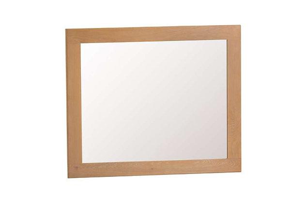 Classic Oak Large Wall Mirror