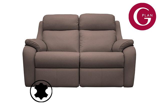 G Plan Kingsbury Leather 2 Seater Sofa