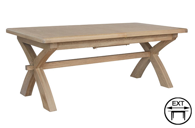 Manor Oak 2m Cross Leg Dining Table
