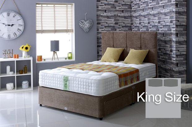 Ultimate Natural 2000 King Size Divan Bed