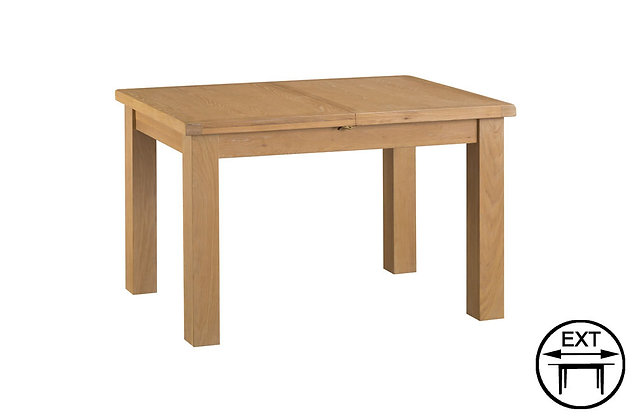 Classic Oak 1.25m Butterfly Extending Dining Table