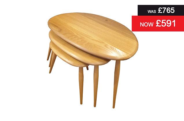 Ercol 7354 Originals Nest of 3 Tables