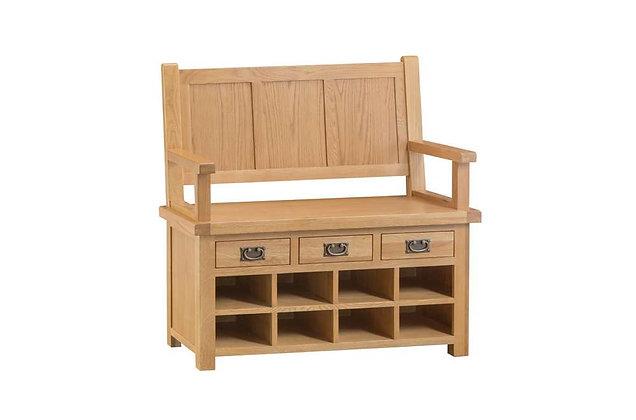Classic Oak Monks Bench