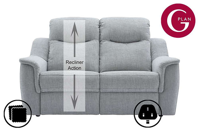 G Plan Firth 2 Seater Single Power Recliner Sofa (Left Hand Facing)