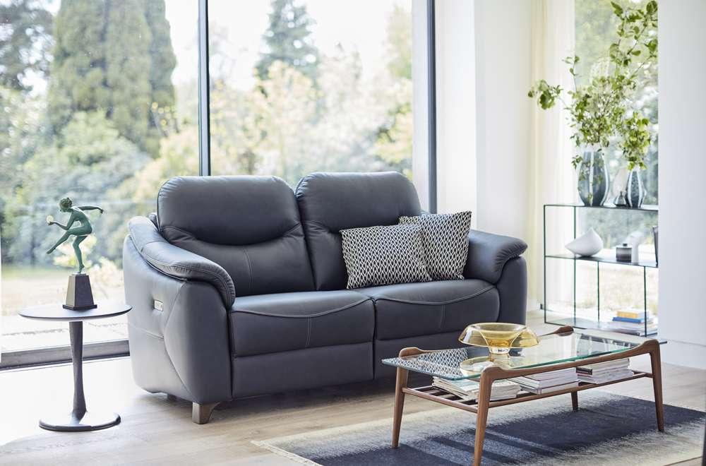 G Plan Jackson Leather Recliner Sofa